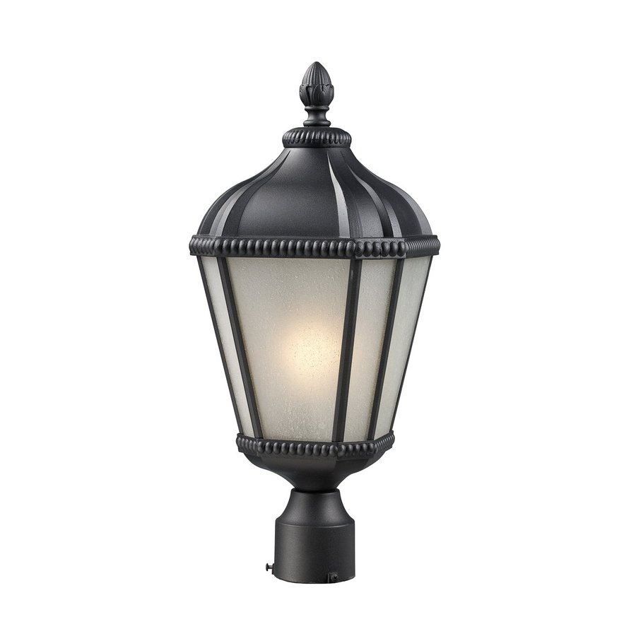 Z-Lite Waverly 23.25-in H Black Post Light