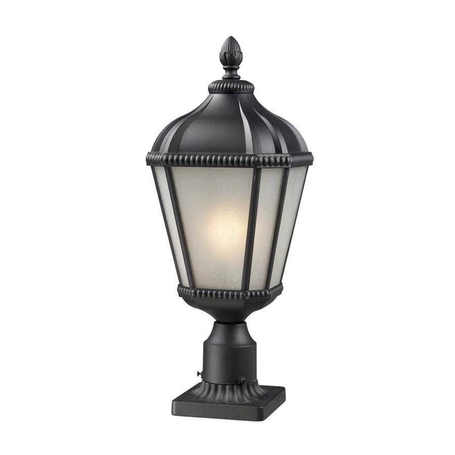 Z-Lite Waverly 25.25-in H Black Pier-Mounted Light