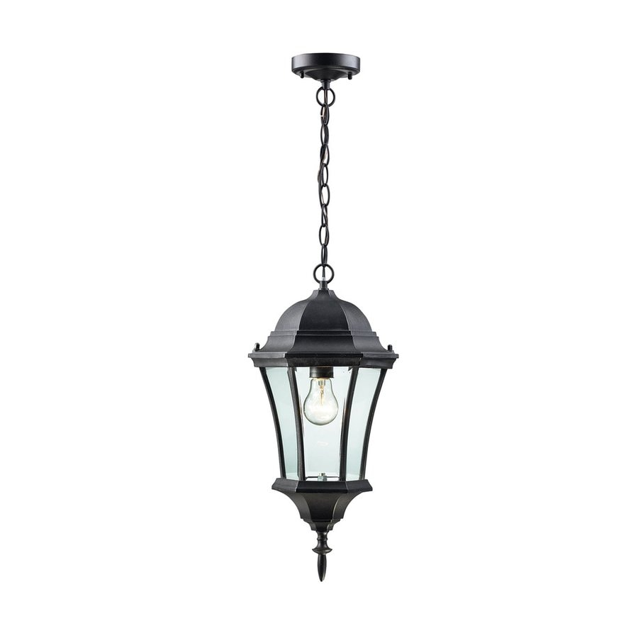 Z-Lite Wakefield 19.5-in H Black Outdoor Pendant Light