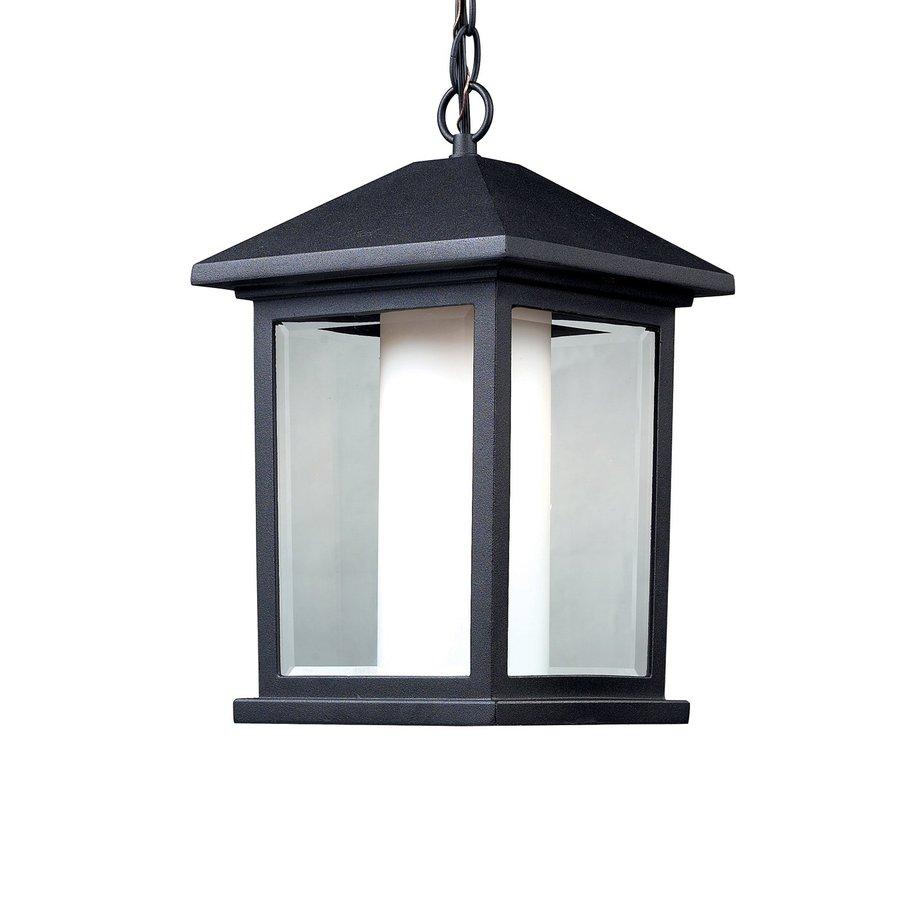 Z-Lite Mesa 13.25-in H Black Outdoor Pendant Light