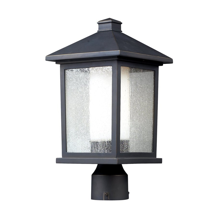 Z-Lite Mesa 15.5-in H Oil Rubbed Bronze Post Light