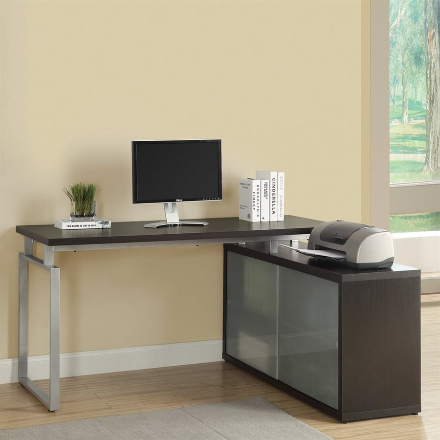 Monarch Specialties Contemporary L Shaped Desk At Lowes Com