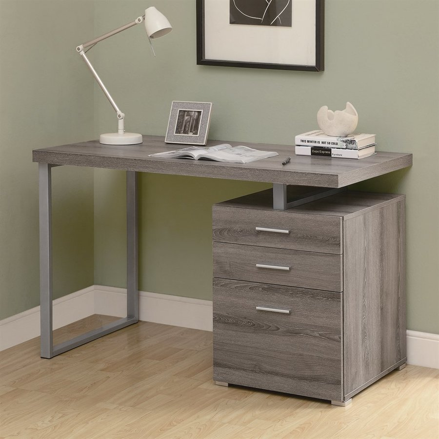 Monarch Specialties Contemporary Dark Taupe Computer Desk