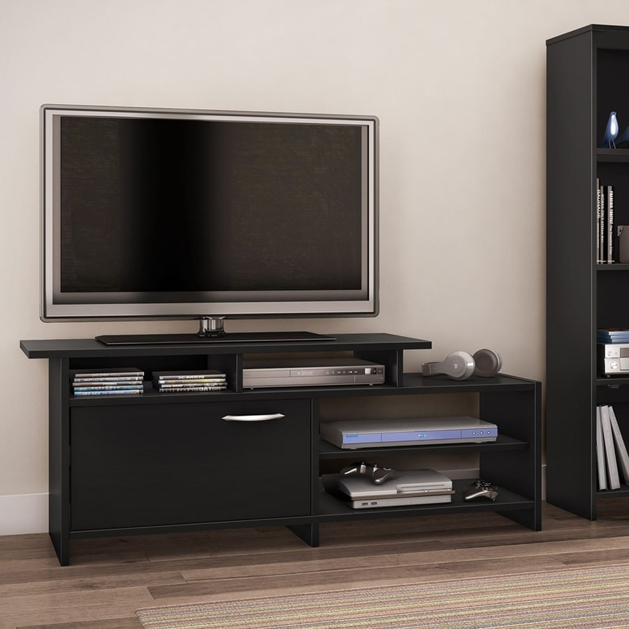 South Shore Furniture Step One Pure Black Rectangular Television Cabinet