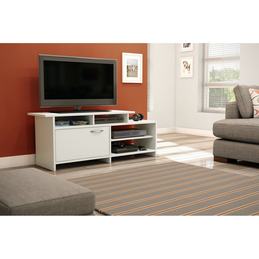 South Shore Furniture Step One Pure White Rectangular TV Cabinet