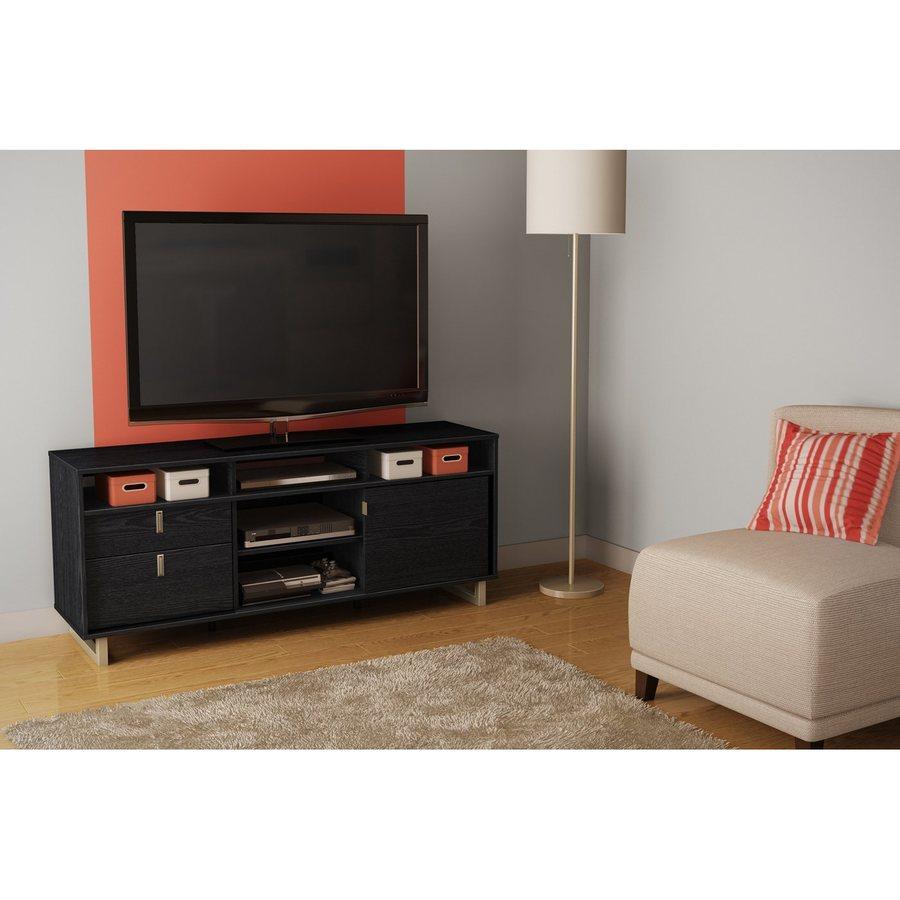 South Shore Furniture Uber Black Oak Rectangular TV Cabinet