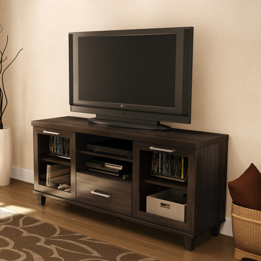 South Shore Furniture Adrian Hazy Brown Rectangular TV Cabinet