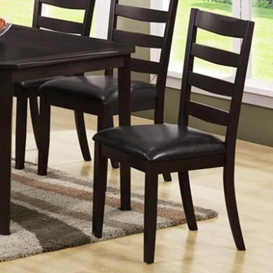 Monarch Specialties Set of 2 Cappuccino Side Chairs