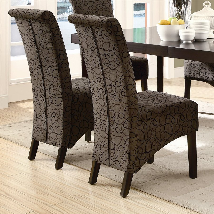 Monarch Specialties Set of 2 Dark Espresso Side Chairs