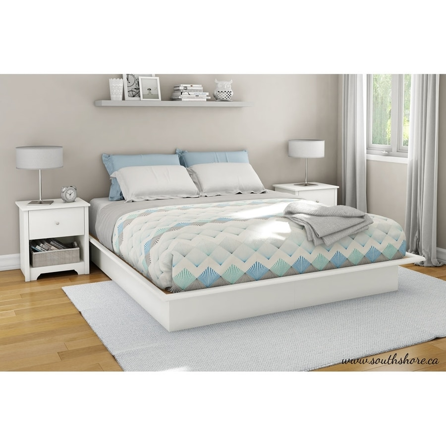 South Shore Furniture Step One Pure White Platform Bed with Storage