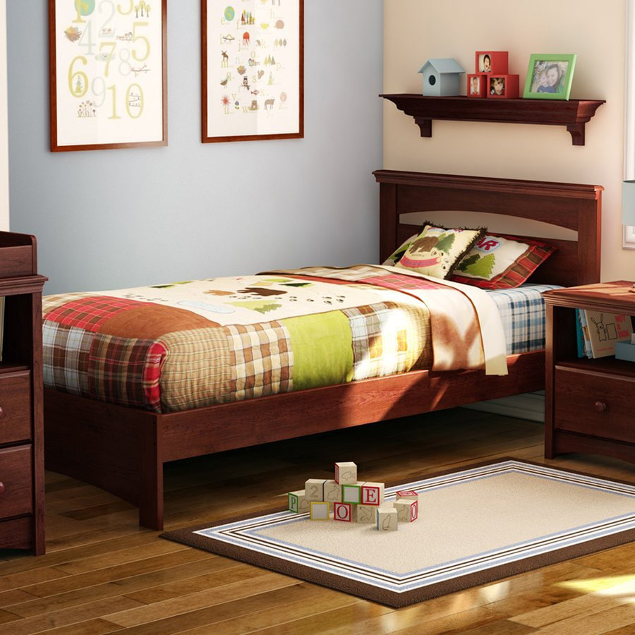 South Shore Furniture Sweet Morning Royal Cherry Twin Panel Bed