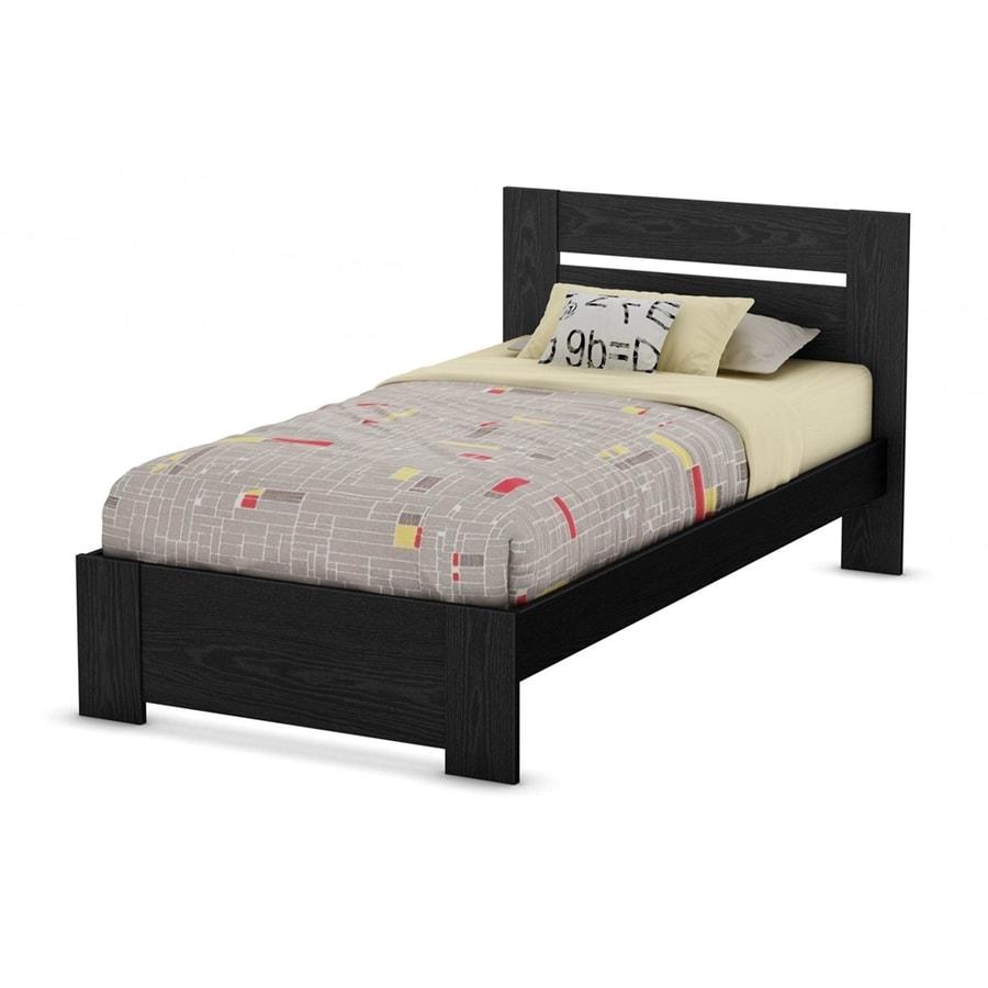 South Shore Furniture Flexible Black Oak Twin Panel Bed