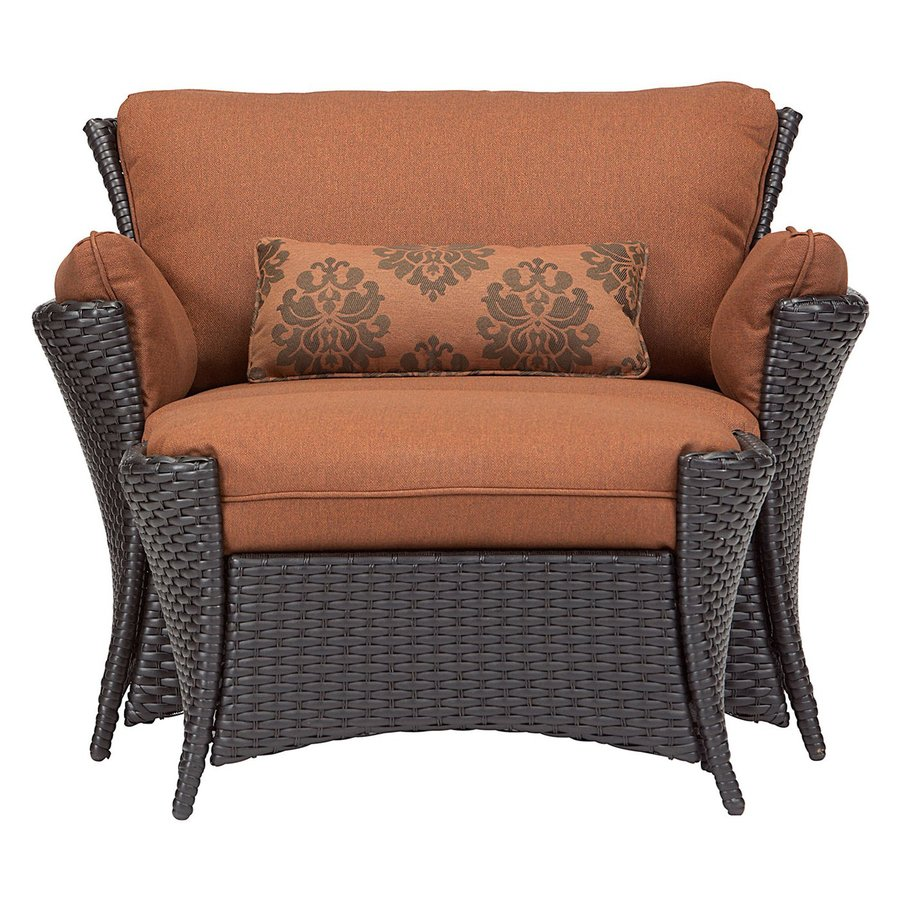 Shop Hanover Outdoor Furniture Strathmere Woodland Rust Wicker - Woodland patio furniture