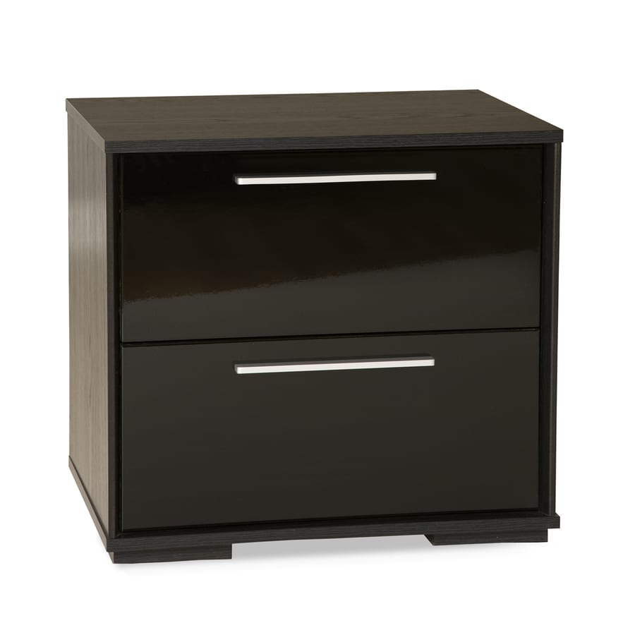 South Shore Furniture Mikka Black Oak Nightstand