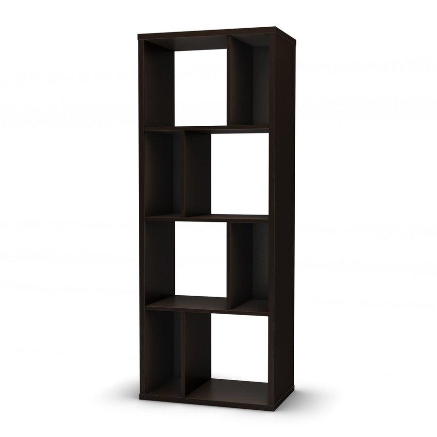 South Shore Furniture Reveal Chocolate 8-Shelf Bookcase