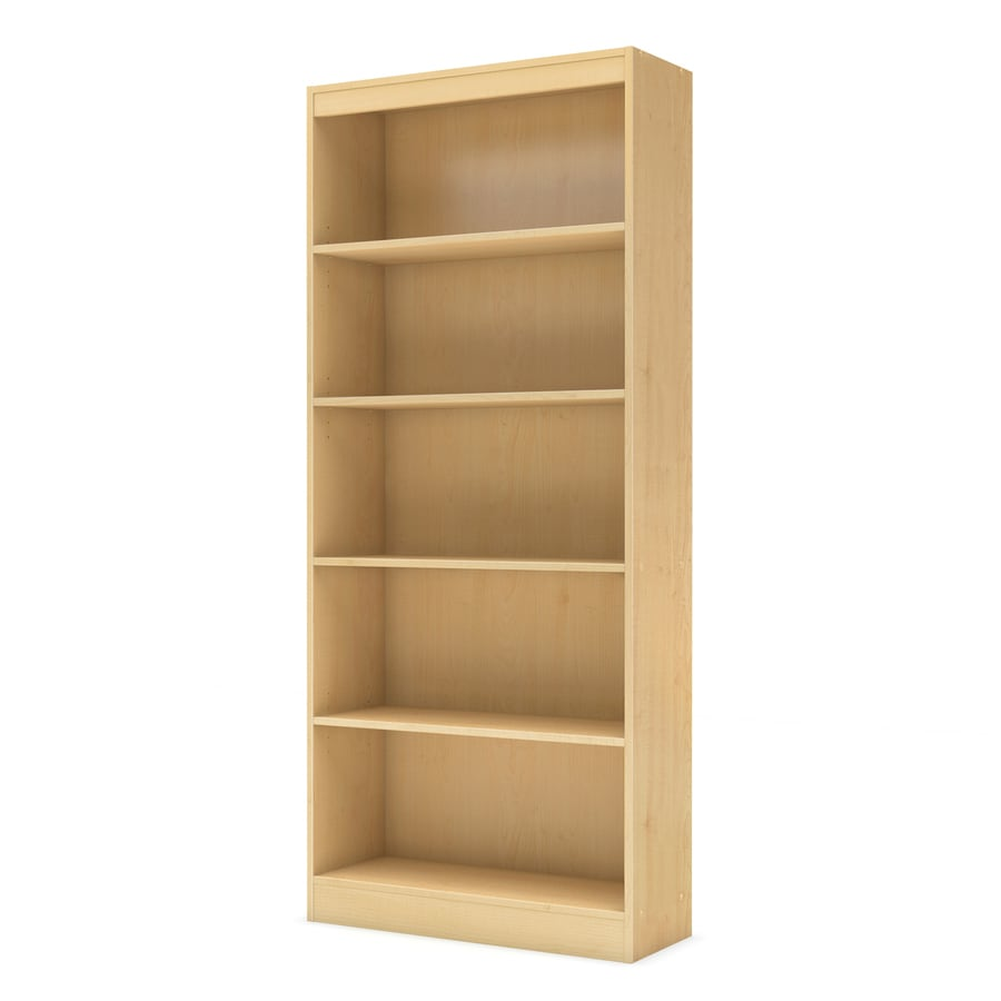 South Shore Furniture Axess Natural Maple 5 Shelf Bookcase