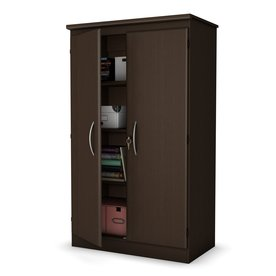 South S Furniture Chocolate 5 Shelf Office Cabinet