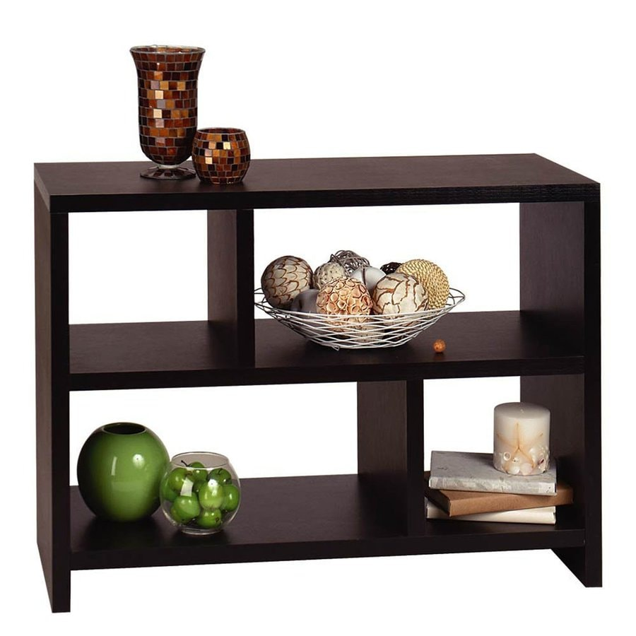 Convenience Concepts Northfield Espresso 38-in W x 28-in H x 15.5-in D 2-Shelf Bookcase
