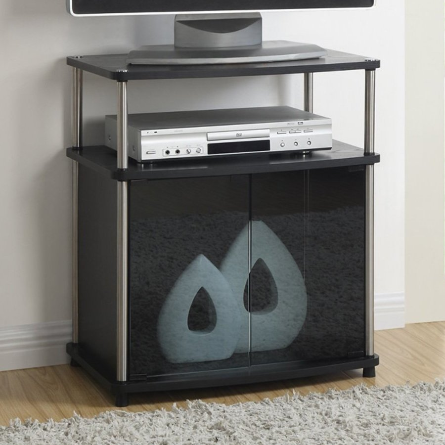 Convenience Concepts Designs2Go Black Rectangular Pedestal Television Stand
