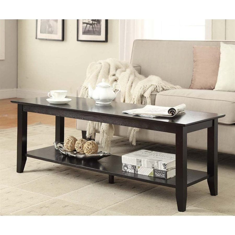 Convenience Concepts American Heritage Black Pine Rectangular Coffee Table