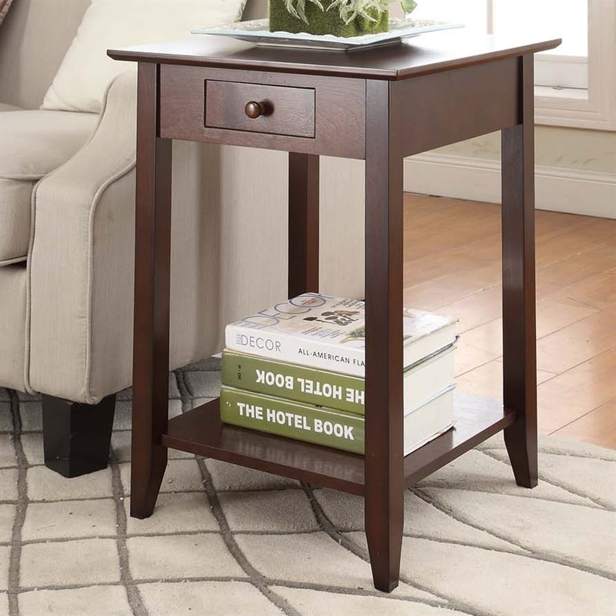 Convenience Concepts American Heritage Espresso Pine End Table