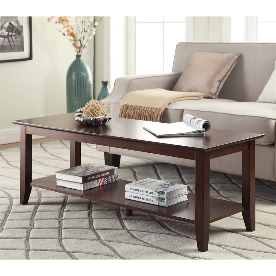 Convenience Concepts American Heritage Espresso Pine Coffee Table