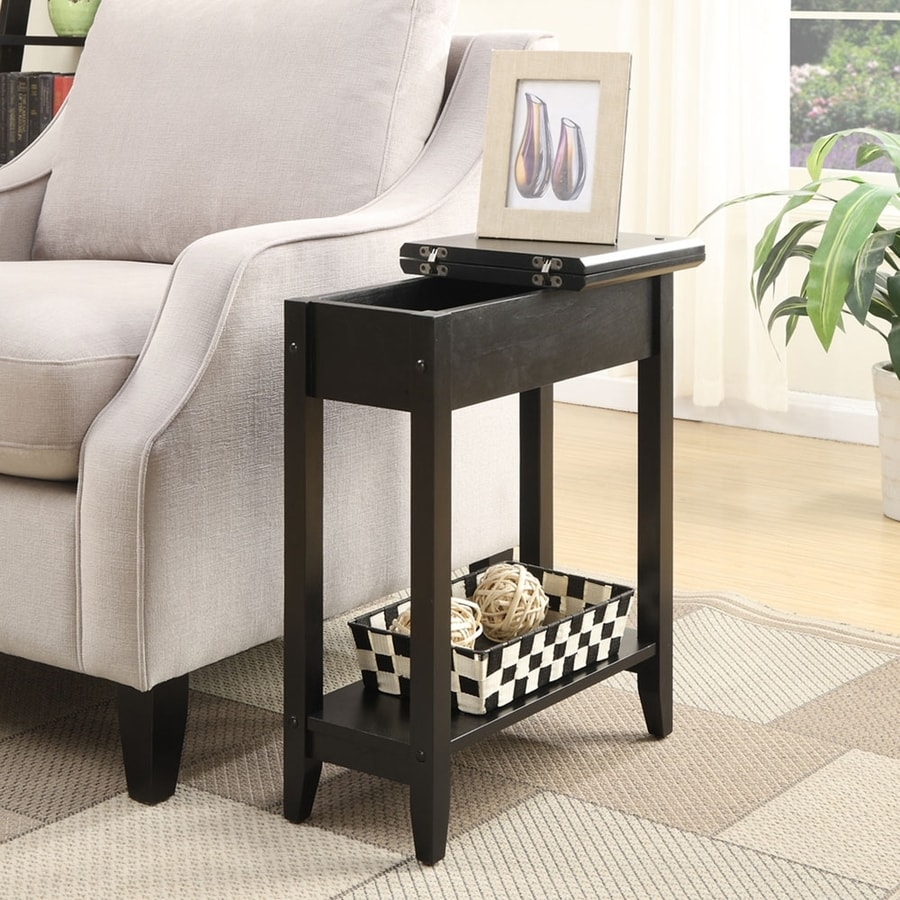 Convenience Concepts American Heritage Black Rectangular Sofa Table