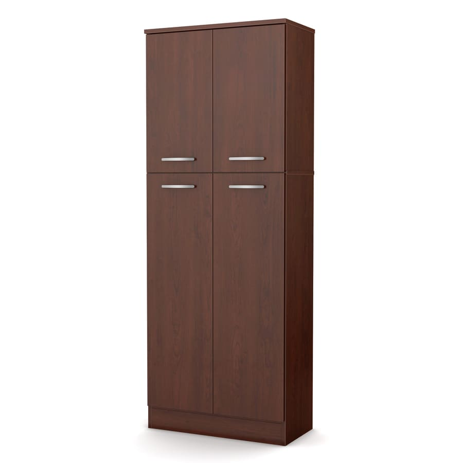 furniture 23 5 in w x 61 9 in h x 11 in d royal cherry pantry cabinet