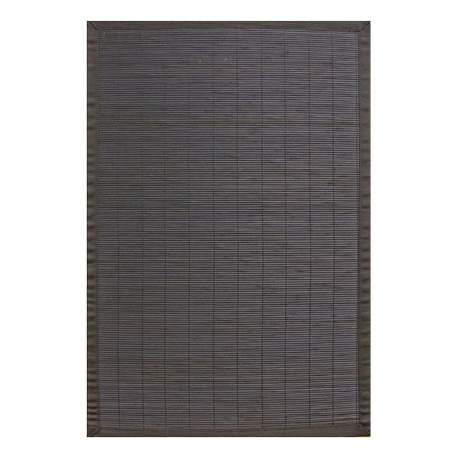 Anji Mountain Ebony Rectangular Indoor Woven Oriental Area Rug (Common: 7 x 10; Actual: 7-ft W x 10-ft L)