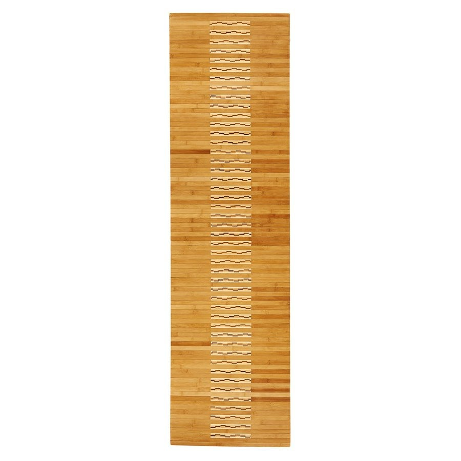 Anji Mountain 72 In X 20 In Natural Bamboo Bath Mat