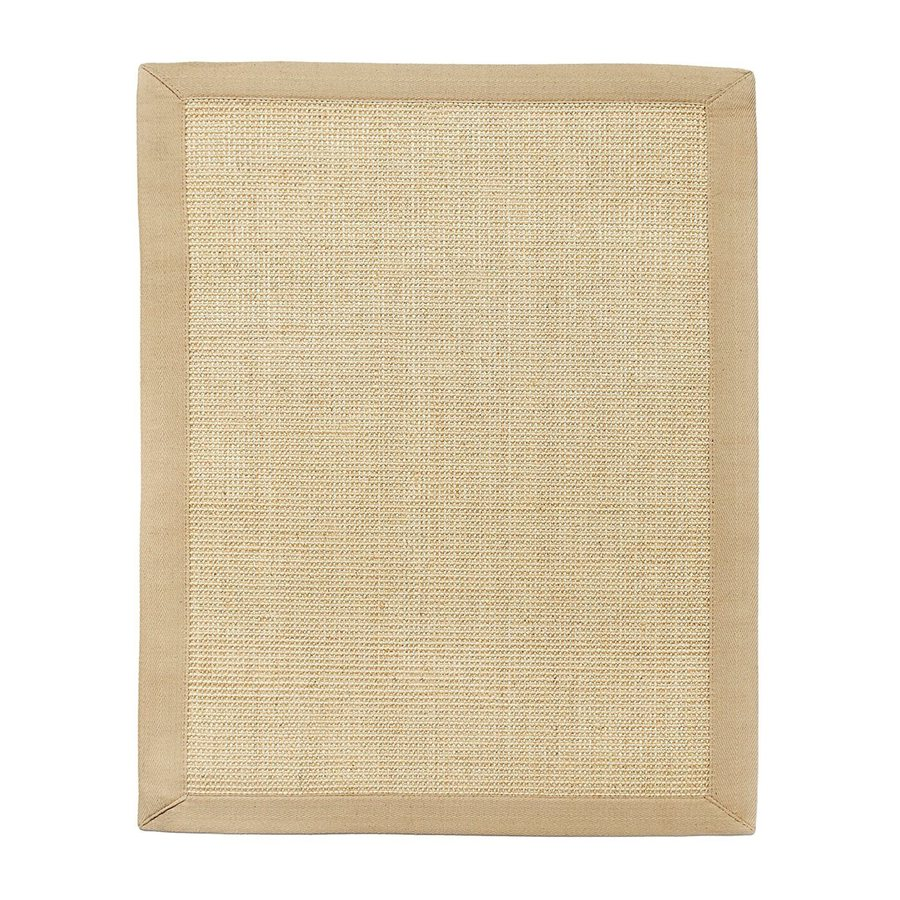 Anji Mountain Sisal Rectangular Indoor Woven Oriental Area Rug (Common: 4 x 6; Actual: 4-ft W x 6-ft L)