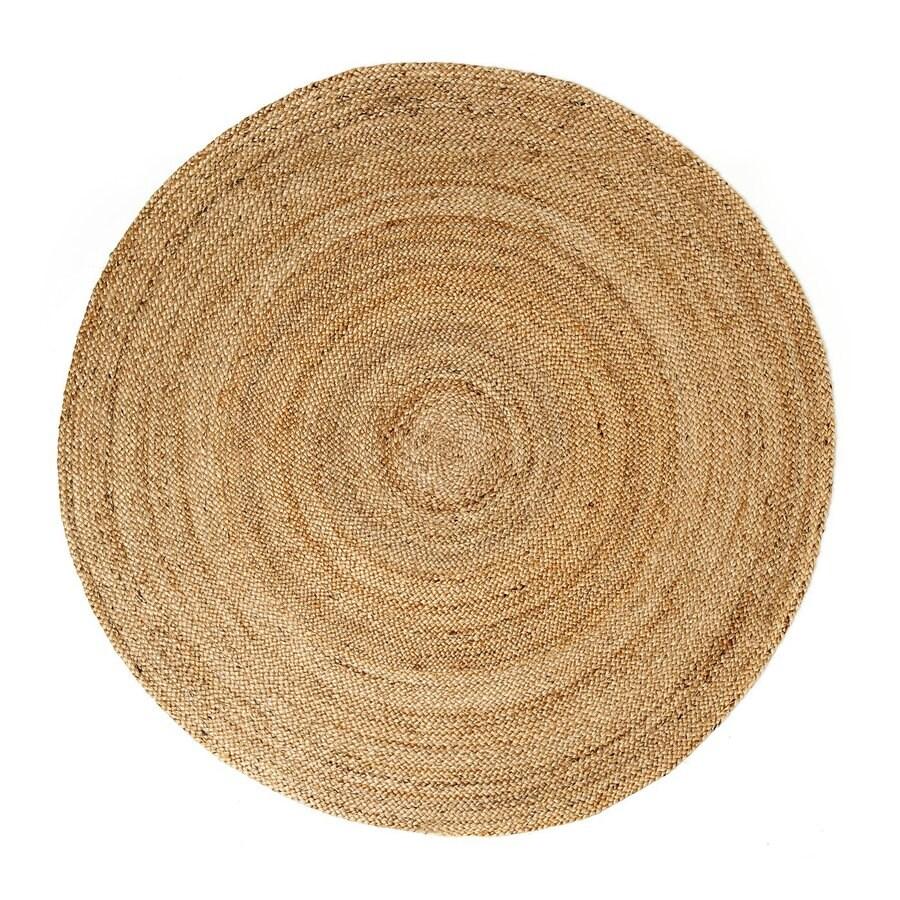 Anji Mountain Kerala Round Indoor Braided Oriental Area Rug (Common: 6 x 6; Actual: W x L x 6-ft Dia)
