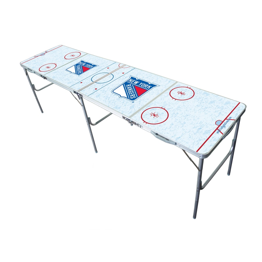 Wild Sports 96-in x 24-in Rectangle Extruded Aluminum White New York Rangers Folding Table