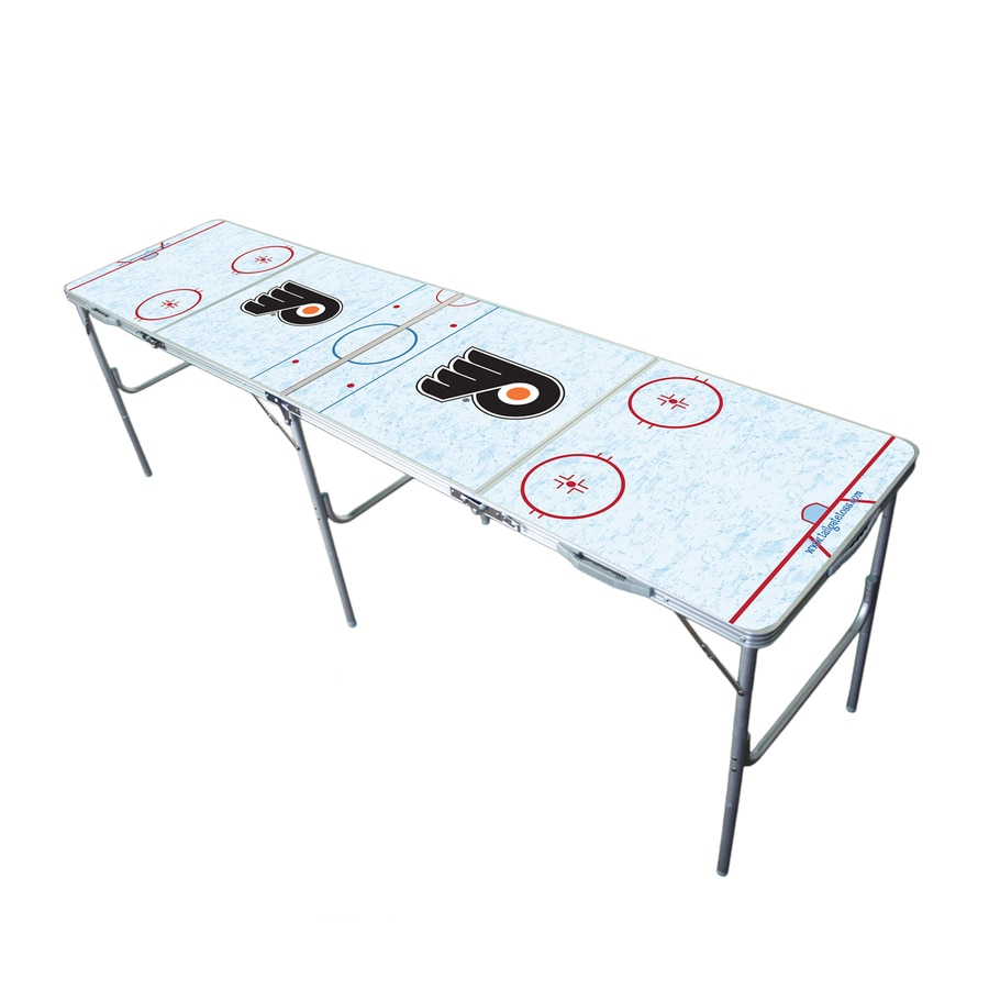 Wild Sports 96-in x 24-in Rectangle Extruded Aluminum White Philadelphia Flyers Folding Table