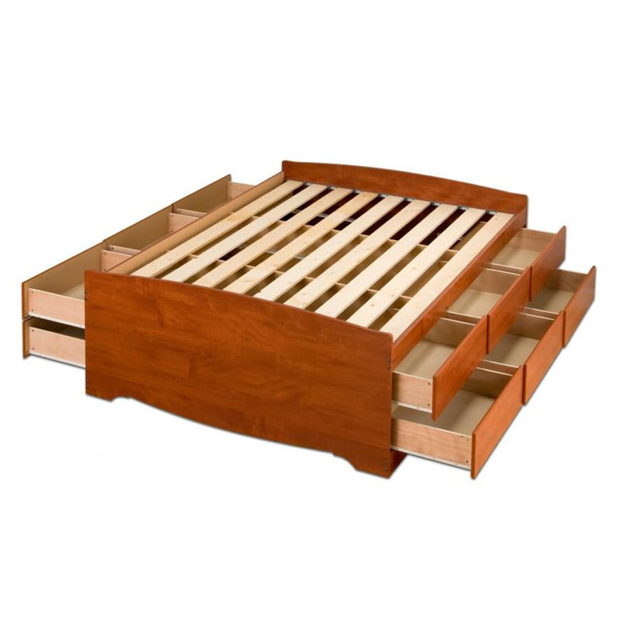 Prepac Captain S Cherry Queen Platform Bed With Storage