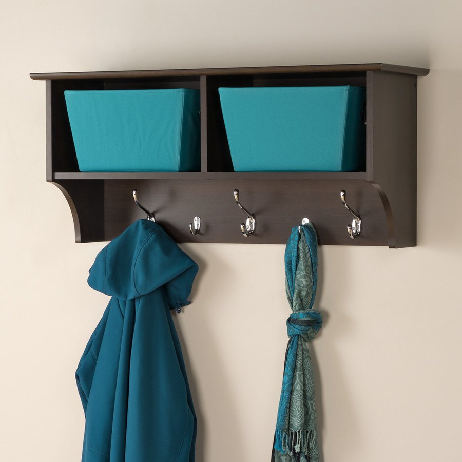 Prepac Furniture Espresso 5-Hook Mounted Coat Rack