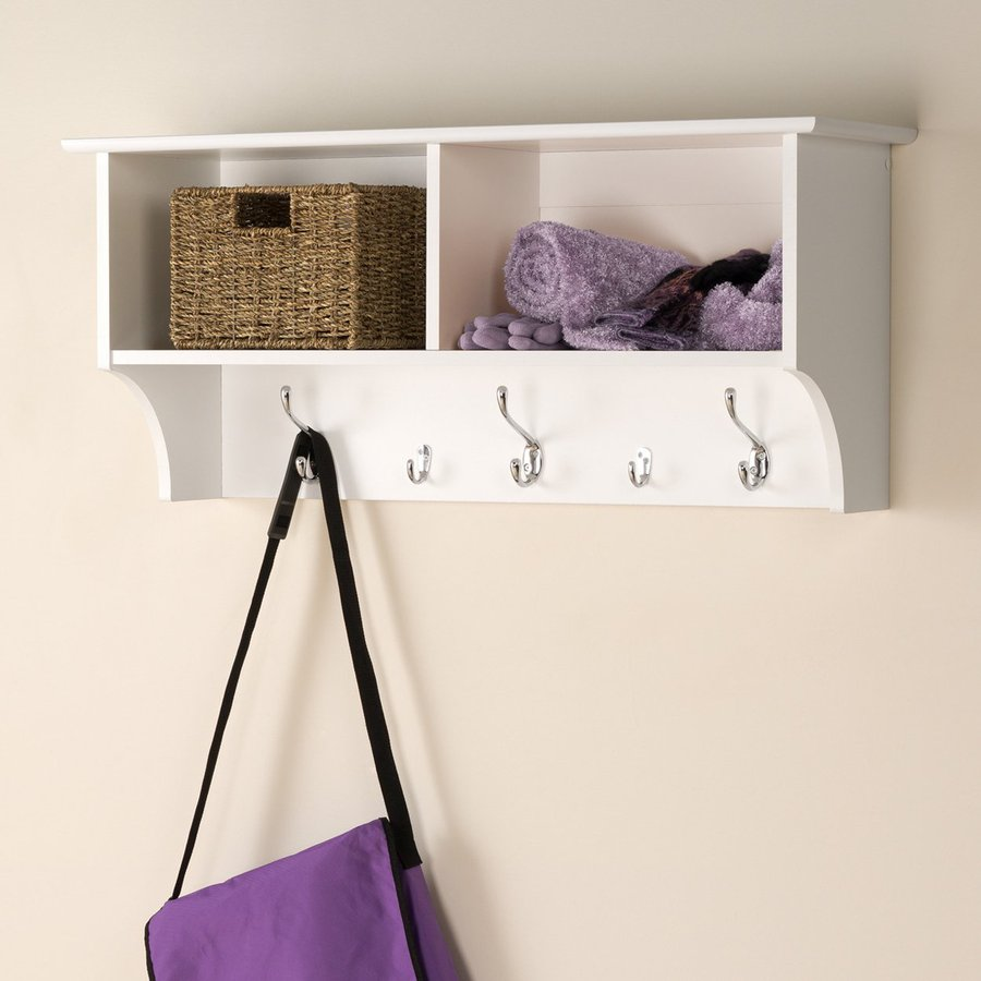 bathroom robe hook amazon source shelves rack unit mounted wall dp shelf co kitchen hallway hooks uk with white open home coat