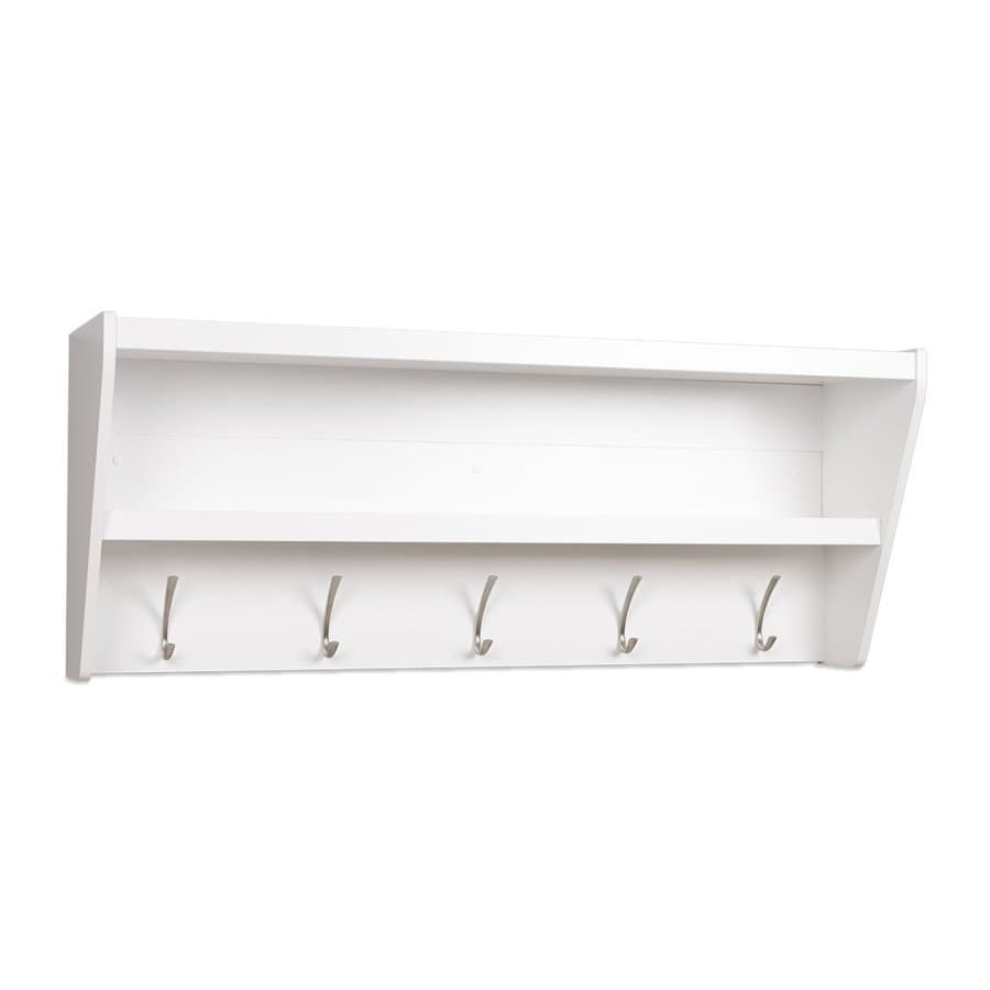 Shop Prepac Furniture White 5 Hook Wall Mounted Coat Rack