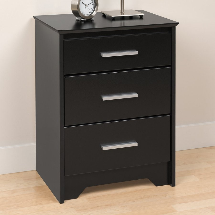Shop Prepac Furniture Coal Harbor Black Nightstand at ...