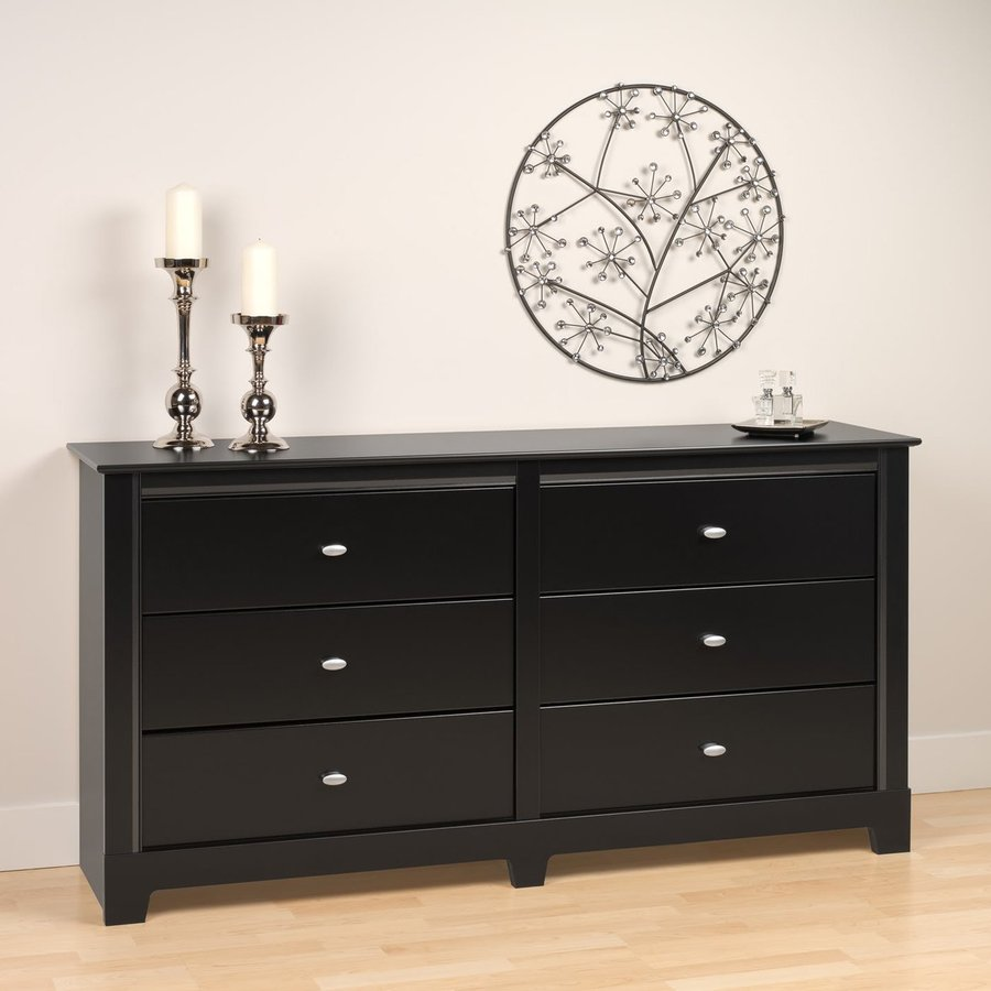 Prepac Furniture Kallisto Black 6-Drawer Dresser