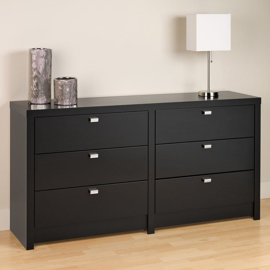 Prepac Furniture Series 9 Black 6-Drawer Dresser