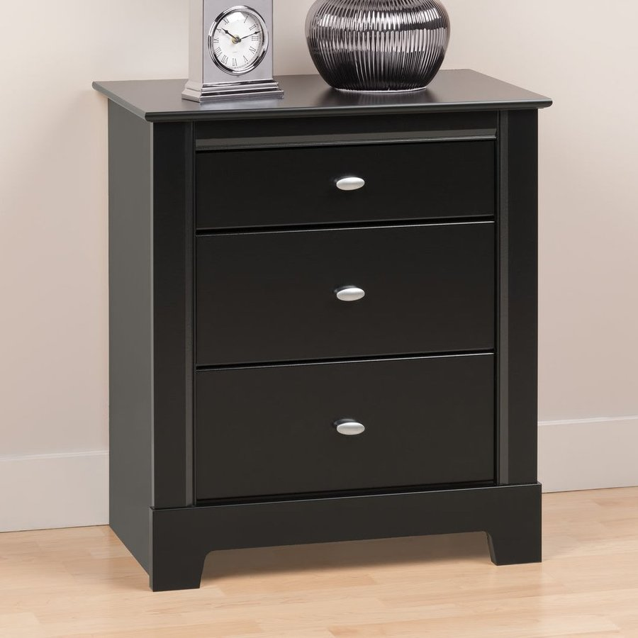 Prepac Furniture Kallisto Black Nightstand