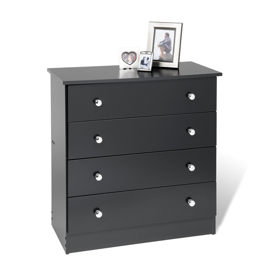 Prepac Furniture Edenvale Black 4-Drawer Chest
