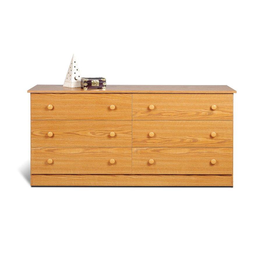 Prepac Furniture Edenvale Oak 6-Drawer Dresser