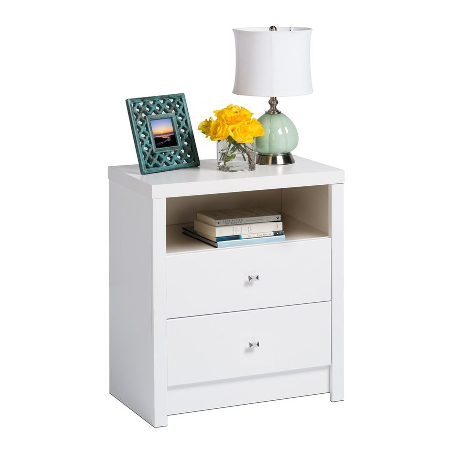 Prepac Furniture Calla White Nightstand
