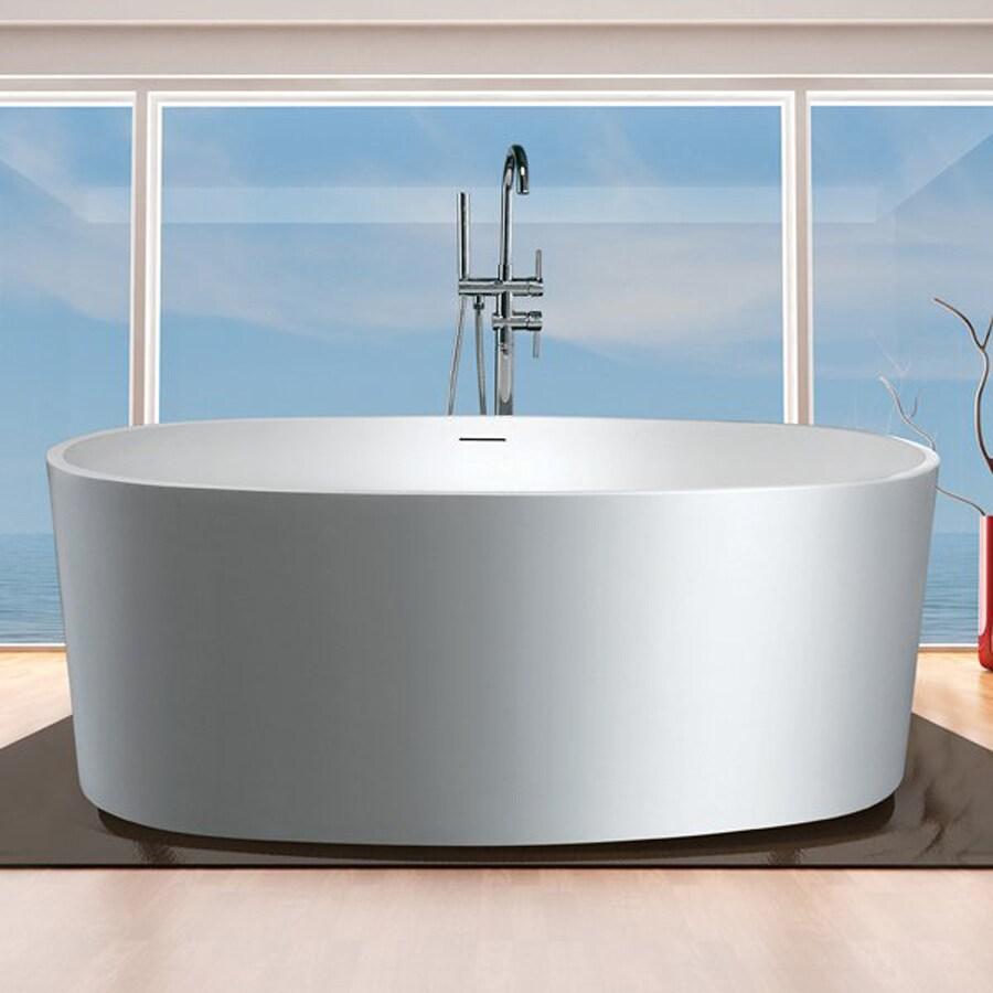 Shop Aquatica Purescape Aquastone™ Matte White Oval ...