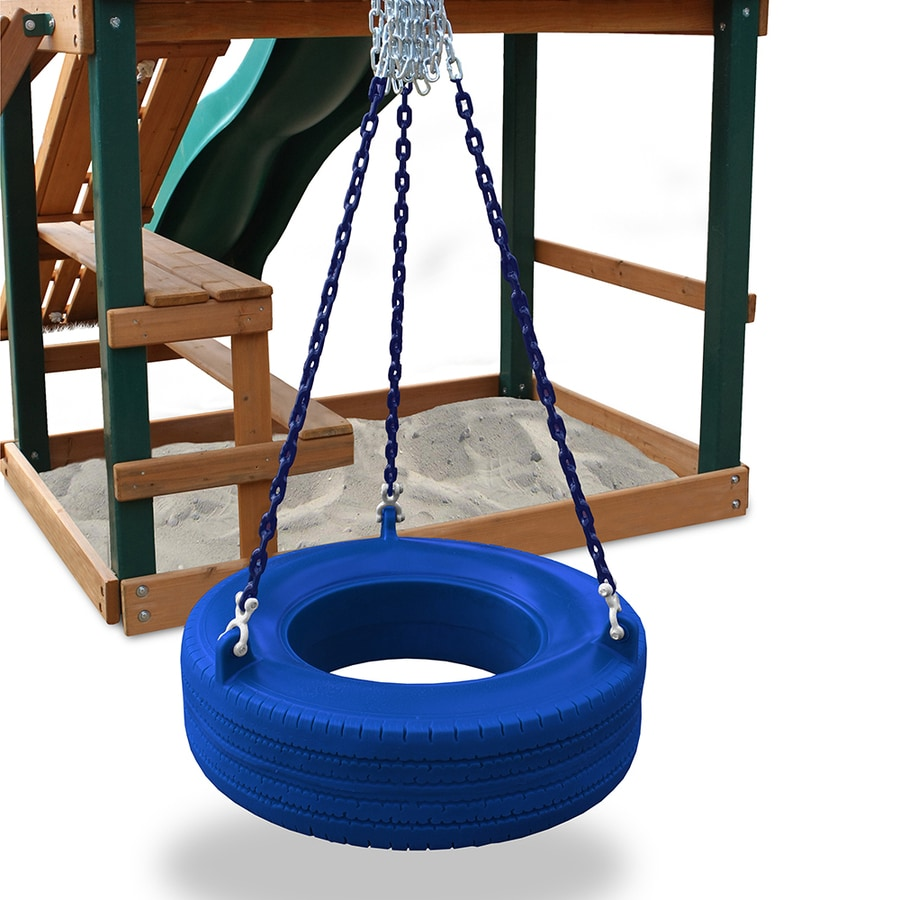 Shop Gorilla Playsets Turbo Blue Tire Swing At Lowes Com