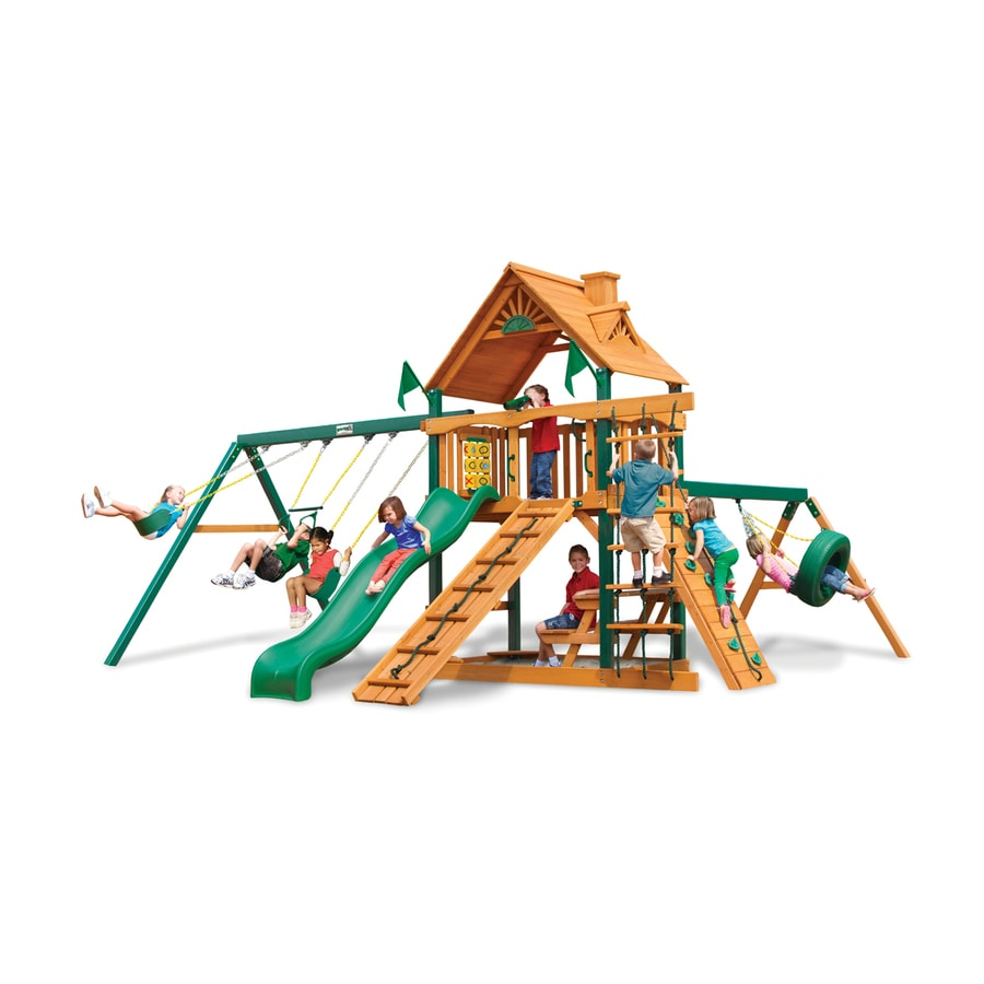 Gorilla Playsets Frontier Residential Wood Playset with Swings