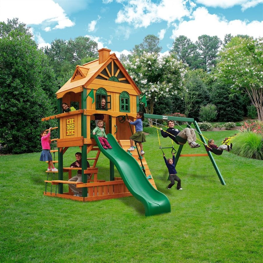 Shop Gorilla Playsets Residential Wood Playset At Lowes Com