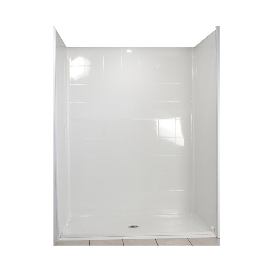 Ella's Bubbles Shower Wall Surround Side and Back Panels with Floor (Common: 30-in; Actual: 77.75-in x 31-in)